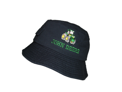 john deere navy kids bucket hat